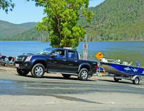 The Isuzu D-Max made easy work of hauling the author's boat up the Borumba Dam ramp.