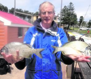 The summer run of bream provides lots of fun for rock fishers.