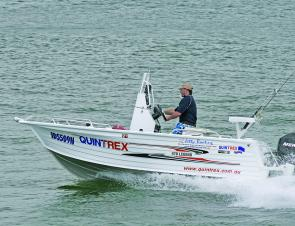 The Quintrex 470 Legend centre console is a sweet, very versatile fishing machine that looks good into the bargain.