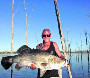 Troy Watson with a 98cm barra. So close to the magic metre mark!
