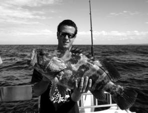Matt Hunter with a nice gold spot cod caught offshore.