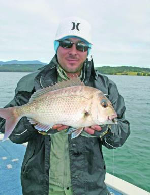Lee from Sydney with a nice snapper taken in the estuary on a soft plastic. You would be happy enough catching quality fish like this on the outside reefs.