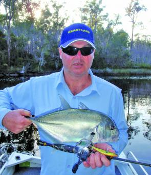 The author with a summer speedster. This GT nailed an OSP Bent Minnow in a small creek.
