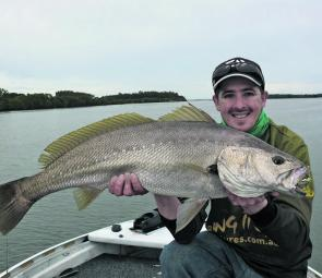 Owen McPaul with a Manning River mulloway.