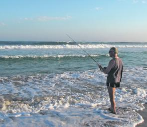 Try a small rod and cast just beyond the shore dump at the beach this month. Whiting should be abundant, along with a few bream and flathead.