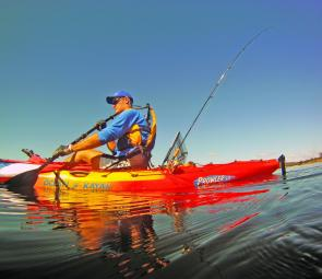 Trolling from your kayak is a great way to connect to fish in lakes and rivers.