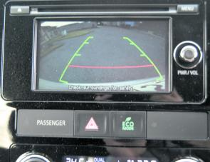 The Outlander's large reversing camera is a handy feature of this well put together vehicle.