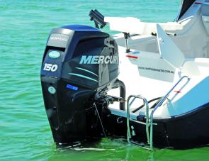 The Mercury 150 Verado was an ideal engine for the Clearwater.