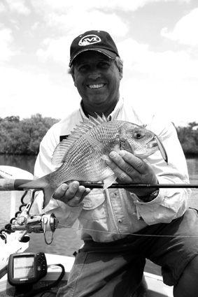 A lovely bream that sucked a Tiemco Pencil – one of the 40 fish for the session.