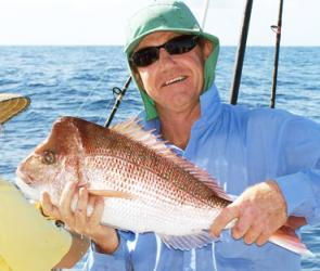 A nice knobby snapper taken up at Double Island Point.