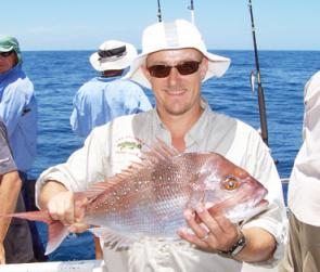 Peter Arch with one of many snapper caught on a lengthy offshore adventure to DI.