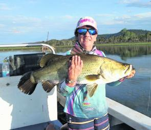 Elaine Sanderson with a quality Kinchant barra. The average size for the tournament was an impressive 89cm.