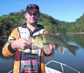 The Nepean Gorge is a spectacular piece of water that houses some cracking bass, like this one from Bents Basin.