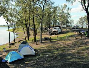 There's room for both caravans and camper trailers at Captain Logan Inlet.