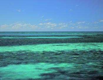 The many shades of blue on Cape York's east coast.