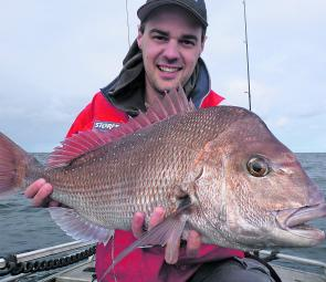 Adam Ring with a cracker early season snapper out from Carrum.