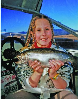 Rochelle Williamson scored this brookie some years ago.
