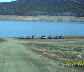 The new gravel boat ramp at Anglers Reach provides alternative access to the northern part of Lake Eucumbene.