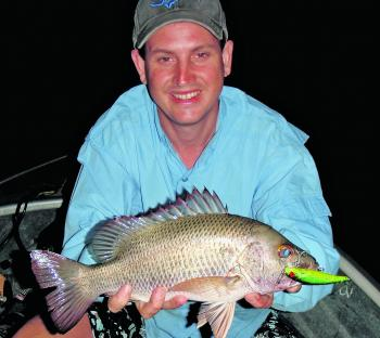 Lure fishing for jacks at night will bring bigger and more aggressive sized fish.