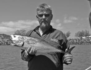 Bill Lewis caught this mack tuna at Forty Acre.