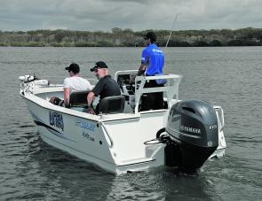 The totally new F115B, on a Sea Jay 5.1 Striker. Slim, strong and ready to perform.