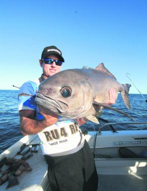 Deon Nourse with a cracking blue-eye caught aboard RU4REEL Charters.