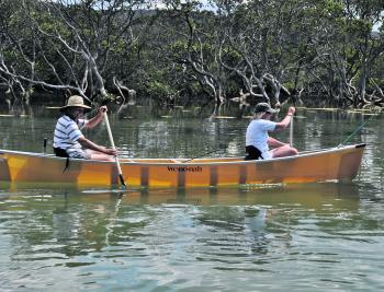 Just one way to explore some of the hidden estuaries along the coast!