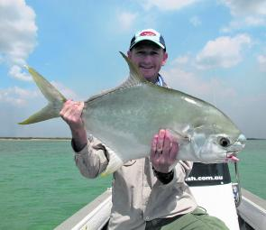 Adam McGlachlan with his first permit on fly, sight cast on the flats and a lifetime goal achieved.