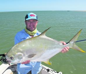 Permit sight cast on the flats of Cape York – a hot spot for those wanting a shot at these fish.