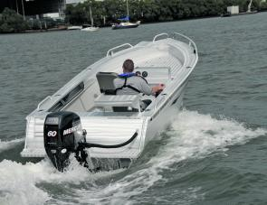 The Mercury 60 EFI four stroke Big Foot was a perfect match for the McLay's hull in every respect.