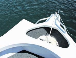 The carpeted anchor well is massive and provides plenty of room for a selection of anchors.