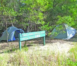 This campsite at Yellow Patch is at Point C on the map and has plenty of features to make it a top spot.