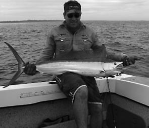 David Postan with a Rooneys Point black marlin – a great Christmas target.