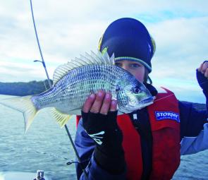 James Primmer caught this bream on a vibrating blade lure.