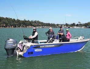 Client comfort is paramount for a charter business, and the Bar Crusher 670 XS is an extremely comfortable and efficient fishing platform. Stability and rough water performance is extremely important to a charter operator, which is why Tasmania's busiest