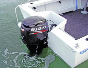 The 90 Suzuki four-stroke was a well matched engine for the beamy Clark's hull.