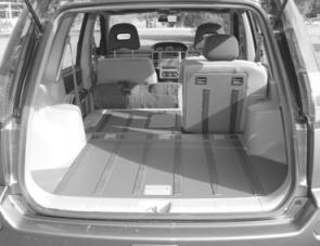 The X-Trail features impressive amounts of rear cargo space and with a seat lowered it just gets larger.