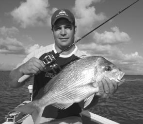 Colin Singleton caught this snapper from the mouth of the Brisbane River fishing an Ecogear Grassminnow. The fish weighed more than 3kg and measured over 65cm.