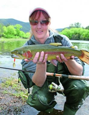 A nice trout caught by a very happy lady fishing the Tumut River over the opening weekend of the season. Although catch rates have dropped since then there are still plenty of fish there to be caught by persistent anglers.