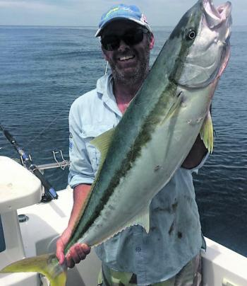 Kirk was excited about his solid kingfish capture.