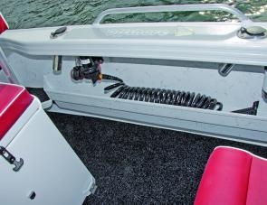 A deck wash is always appreciated in a fishing boat, and this one is a great example.