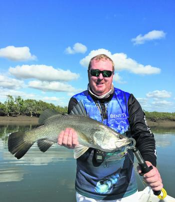 Barra are a welcome by-catch while hunting threadfin.