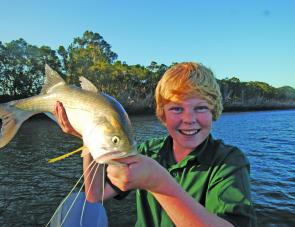 Tommy Wood caught this threadfin fishing the Burnett one afternoon after school.