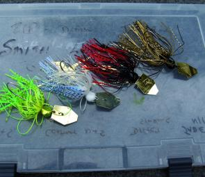 Chatterbaits, these are 3/8oz and 1/2oz size, are versatile lures which can be cast, jigged and slow-rolled. Colour choices on the jig, skirt and blade make for some diverse selections for all kinds of water.