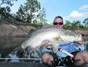 Even the boat-based anglers will be getting into the barra and fish like this will make it all worth the effort, especially if it's a late wet.