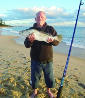 Wayne caught this mulloway on Moffat Beach on the last day of October.