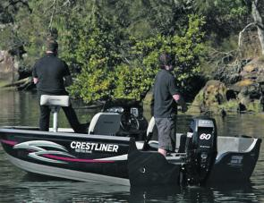 There's plenty of room and solid stability to make fishing a breeze.