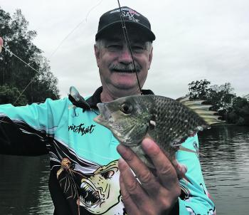 Martin had this good bream chomped by the local bull shark population.