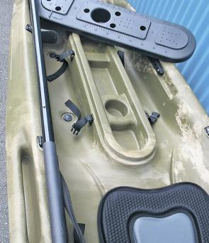 The Maximum Storage Option includes cutting out the console, fitting of a new rubber seal, lanyard for the hatch and tie off points inside the hull.