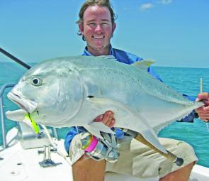 If you go too light trevally like this will continually bust you up. Stick to an 8kg-style threadline with 30lb line and 60-80lb leader to make sure you land some fish and have the day of your fishing life.